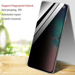 $enCountryForm.capitalKeyWord Australia - Soft HD Privacy Screen Protector for Samsung Galaxy S8 S9 S10 Plus S10e Fingerprint Unlock Anti-Peeping Protective Film for Note 8 9