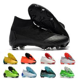 Soccer cleatS cr7 black for online shopping - Mercurial Superfly Soccer Shoes For CR7 Ronaldo KJ VI FG Mens Football Boot Ronaldo Men Soccer Cleats Size