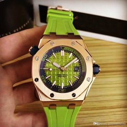 rubber band mens luxury watch Australia - New Top Selling Luxury Mens watch Special Royal oak 15710ST Rubber Band Stainless Steel Automatic Mechanical Wristwatches free delivery gift