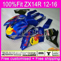 blue fairing zx14r Australia - Injection For KAWASAKI NINJA ZX 14R ZZR 1400 ZX14R 12 13 14 15 16 73HM.25 ZZR1400 ZX-14R 2012 2013 2014 2015 2016 OEM Fairing Blue yellow