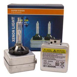 Vente en gros XENON D1S D1C D1C HID XENON PHASE 6000K 4300K 8000K 12000K HID Phare de voiture Xenon 35W Lampe de lampe de phare de phare froide Lampe automatique