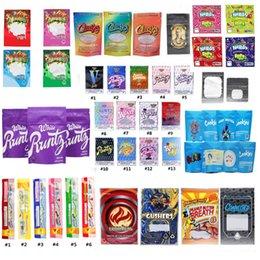 Dank Gummies Mylar NERDS CORDA mordidas Runtz Gasco Wonka Gummies risadas Gushers azedo Gushers Carrinhos biscoitos Connected Zipper sacos de embalagem em Promoção
