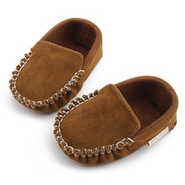 moccasins for baby girls 2019 - Newborn Baby Boy Girl Shoes First Walkers Baby Moccasin Shoes PU Leather Prewalkers for Kids Crib cheap moccasins for ba