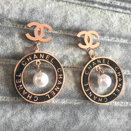 3f9cdbe91 2019 Orignal Desinger Never fading stainless steel love zircon stud earrings  Big Size rose gold silver filled engagement earrings for women
