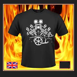 Japanese Engines Australia - 2018 New Men Fashion Men T Shirt Free Shipping Japanese Classic Motorcycle Motorrad V Max V-Twin Vmax Yam Engine Art