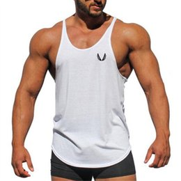$enCountryForm.capitalKeyWord NZ - Muscle Cotton Gym Tank Tops Men Sleeveless Tanktops For Boys Bodybuilding Clothing Undershirt Fitness Stringer Workout Vest