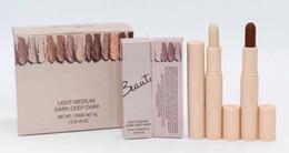 Beauty Concealer Australia - newest makeup BEAUTY Cream Contour&Highlighter Concealer stick 4 colors Light Medium Dark Deep Dark traceless foundation stick 7g