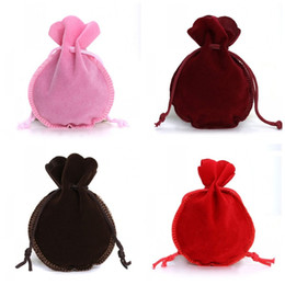 Tool shape candy online shopping - Small Candy Bags Solid Color Gourd Shaped Jewelry Pouch Velvet Gift Wrap Bundle Pocket For Christmas Wedding Party Supply dy E1