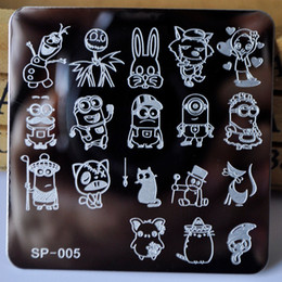 cartoon stamping UK - Nail Stamping Plates Cartoon Stamping Plate Sp Design Nail Art Image Plate Equipment Stamp Stamping Plates Manicure Template