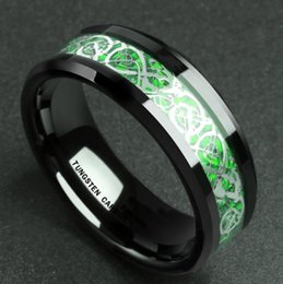 Domineering Man Ring Red Green Carbon Fiber Black Dragon Inlay Comfort Fit Stainless steel Rings for Men Wedding Band Ring from electronics android manufacturers