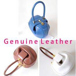 Nude color leather haNdbag online shopping - Designer luxury handbags high quality genuine leather handbag new fashion candy color brand designer tote bag
