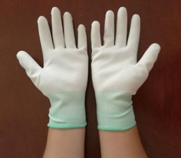 $enCountryForm.capitalKeyWord Australia - Anti-static, finger dipping and anti-skid gloves with PU coated palm gloves, anti-wear nylon dust-free