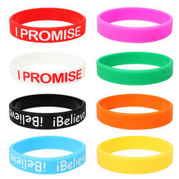 $enCountryForm.capitalKeyWord Australia - Silicone Bracelet For Teens And Children,Set Of 8 Silicone Wristbands In Different Colors,Inspirational Sports Bracelet For Men And Women