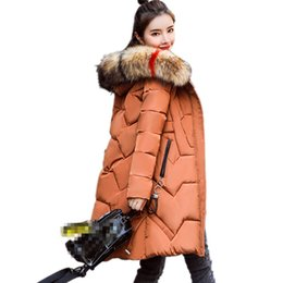 cheap long cotton coats 2019 - B3479 2019 new autumn winter women's fashion long style cotton-padded jacket slim keep warm coat cheap wholesale di