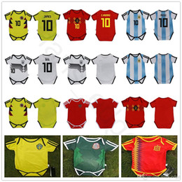 571e093a740 Baby Soccer Jersey For 6 To 18 Month 2018 World Cup Argebtina Spain Mexico  Colombia Belgium Sweden Russia Kid Football Shirt Jersey