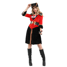 Wholesale women pirate cosplay costume for sale – halloween HUIHONSHE Women Pirate Costumes Carnival Performance Sexy Adult Halloween Costume Dress Princess For Party Cosplay