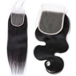 $enCountryForm.capitalKeyWord UK - Virgin Chinese Human Hair Products 4x4 Transparent Lace Closure with Baby Hair Body Wave Natural Straight Discount Best 10A Free for Sale