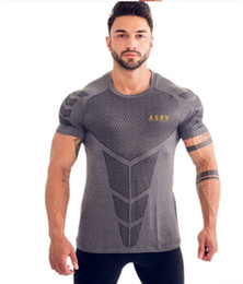 T Shirt Digital Printing Sport NZ - gym Express Sports T-shirt, Men's Fitness Short Sleeves, 3D Digital Printing, One Substitute for Men's Tights in Europe and America