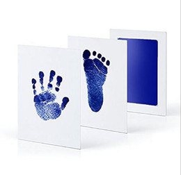 $enCountryForm.capitalKeyWord UK - Newborn Baby Handprint Footprint Inkless Touch Non-Toxic InkPad DIY Photo Frame Infant baby hand and footprint Souvenir