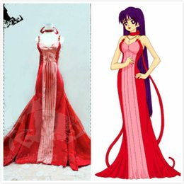 cosplay costumes sailor moon Canada - Details about Sailor Moon Sailor mars Hino Rei-Princess Mars Red Dress Cosplay Costume