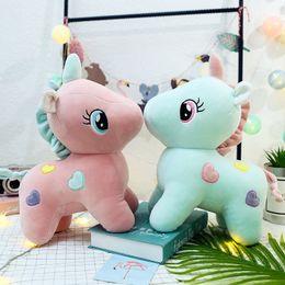 Ce Soft Toys NZ - 20 22cm Plush Toys Soft Unicorn Doll Appease Sleeping Pillow Kids Rainbow Horse Toys For Children Christmas Birthday Gift