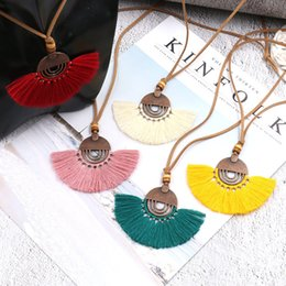Boho style jewelry online shopping - Long Tassel Necklace for Women Long Necklace Boho Bohemian Necklace Accessories Colorful Vintage Ethnic Punk Style Fashion Jewelry