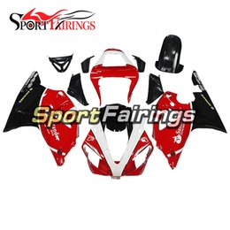 $enCountryForm.capitalKeyWord Australia - Santander Red White and Black Lowers Casing For Yamaha 2000 2001 YZF1000 R1 Complete Plastic Pieces R1 00 01 Bike Bodywork Panels