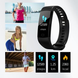 $enCountryForm.capitalKeyWord Australia - Y5 Smart Bracelet Wristband Fitness Tracker Color Screen Heart Rate Sleep Pedometer Sport Waterproof Activity Tracker for iPhone Samsung