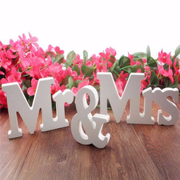 Wholesale Wedding Decorations Marriage Decor Mr Mrs Birthday Party Decorations White Letters Wedding Sign Hot Wedding Decor
