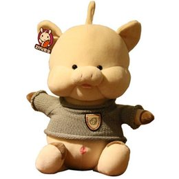 $enCountryForm.capitalKeyWord Australia - 20170726 2019 Hot Sales Cute Plush Toys Miniature Sweater Pig Doll For Girls Gift And Birthday Gift Of Free Shipping