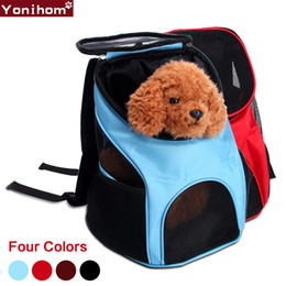 $enCountryForm.capitalKeyWord NZ - Pet Carrier Fashion Breathable Bag for Dogs Travel Carrying Cat Dog Puppy Comfort Travel Outdoor Shoulder Backpack Portable D19011201