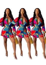 $enCountryForm.capitalKeyWord Australia - EU Women Designer Dress Luxury Chain Printed Women Dress Fashion Long Sleeve Lapel Neck Women Shirt Dress