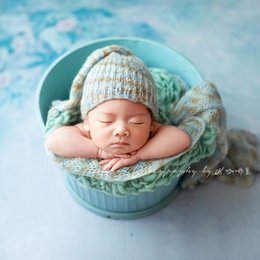 hand knitted beanie UK - Newborn Gril Sleepy Hat Photography Props Knit Dots Bonnet Photography Props Hand Crochet Soft Bonnet Photo Props