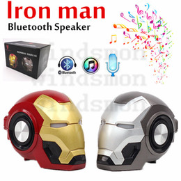 portable kids mp3 speakers UK - 2020 NEW Gute Iron Man Bluetooth Speaker Ironman Christmas Kid Gift Speakers LED Flashing Light Boombox MP3 Music Mini Portable Speakers