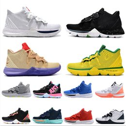 0ffc4bf94f0 2019 New Arrival Kyrie IV 5 Basketball Shoes Mens IV 5 Gold Championship  MVP Finals training Sneakers Designer Sports Running Shoes US 40-46