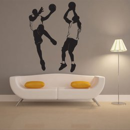 basketball bedroom Australia - Modern home personality decorative wall stickers playing basketball sports boy bedroom living room decoration stickers foreign removab
