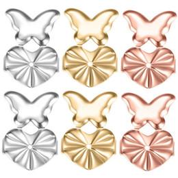 $enCountryForm.capitalKeyWord Australia - Fashion Gold Silver Stud Earrings Back Support Butterfly Ear Lift Earrings Lifters Hypoallergenic Fits Earrings Plug for brinco
