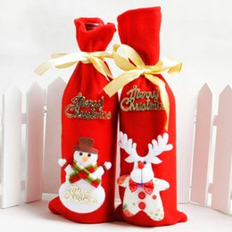 $enCountryForm.capitalKeyWord Australia - New 2019 Red Wine Bottle Cover Bags Decoration Home Party Santa Claus Christmas Santa Claus