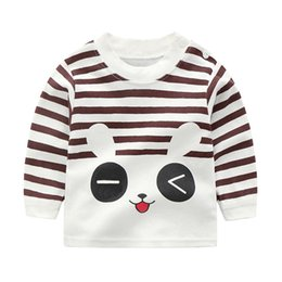 China baby kids tops cotton cartoon unisex t shirt tee lovely long sleeve pullover sweatshirts roupa thin soft sweet clothes 4de10 cheap sweet brown clothing suppliers