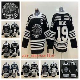 57d7c3884 2019 Winter Classic Chicago Blackhawks 19 Jonathan Toews 88 Patrick Kane 50  Corey Crawford 10 Patrick Sharp hockey jersey
