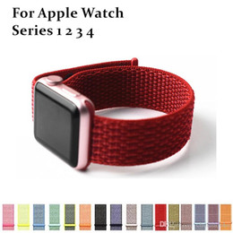 $enCountryForm.capitalKeyWord Australia - Nylon strap For Apple Watch 4 3 2 1 Sport Bracelets 39 Colors Adjustable Breathable Smart WatchBand 42mm 38mm 44mm 40mm For iWatch