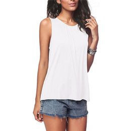 Sexy Army Shirts Australia - Summer Women T Shirt Casual Sleeveless T-shirt Sexy Hollow Out Back Shirts Loose Solid Elegant Tops Camiseta Mujer Plus Size 5XL