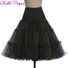 Multi Color Women Tutu Australia - Tutu Skirt Silps Swing Rockabilly Petticoat Underskirt Crinoline Fluffy Pettiskirt For Wedding Bridal Retro Vintage Women Gown Y19050602