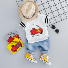$enCountryForm.capitalKeyWord Australia - HYLKIDHUOSE 2019 Summer Toddler Infant Clothing Sets Baby Girls Boys Clothes Suits Car T Shirt Shorts Kids Children Costume