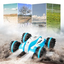 Discount toy motor powerful - Powerful Design RC Cars 2.4GHz 6-Channel Amphibious Car 360-Degree Rotation Stunt Vehicle Toy Remote Control Toys Gifts