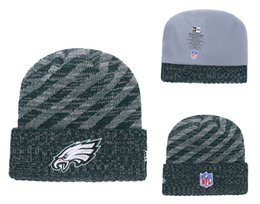 $enCountryForm.capitalKeyWord Australia - Men's Philadelphia Eagles Green 2018 Sideline Cold Weather Official Gray Black Super Bowl LII Champions Parade Cuffed Pom Sport Knit Hat 02