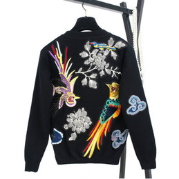 Wholesale Autumn new European and American women s wear Long sleeve round collar heavy embroidery Knitting sweater