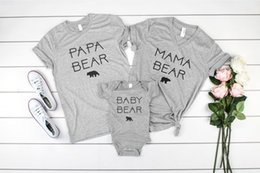 Baby Tees Australia - OKOUFEN Papa Mama Baby Bear Family Set Matching Women Top Casual Short Sleeve Tee Summer Female Femme T Shirt Plus Size Fashion