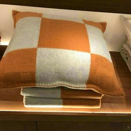 $enCountryForm.capitalKeyWord Australia - Fashion Vintage Fleece PillowCase Letter H Cashmere European Pillow Covers Wool Throw Pillow Case Christmas GIfts DIA 45*45cm 65*65cm