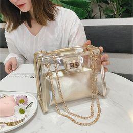 $enCountryForm.capitalKeyWord Australia - Bags For Women 2019 Hot Sac Transparent Femme Jelly Chain Ladies Hand Bags Beach Shoulder Bag Holographic Purses And Handbags Y19061204